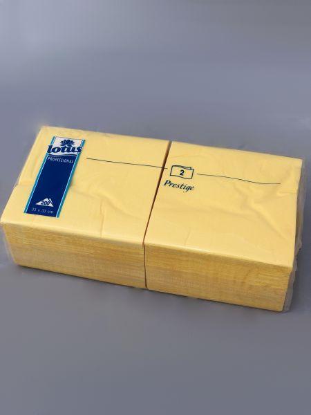 Servietten gelb 2-lagig 33 x 33 cm