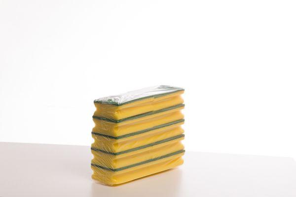 08-82_Schwämme mit Schleifvlies und Griffleiste_150 x 95 x 45mm_ 10 x 10 Stück