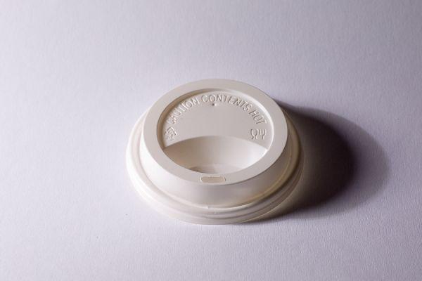 Kunststoff-Deckel 80mm weiß für 200 + 275ml Becher