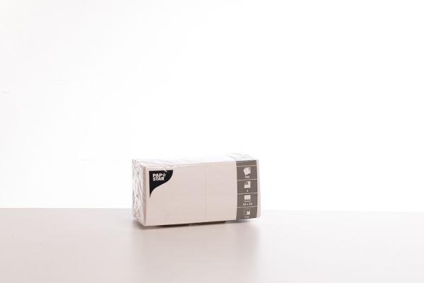 82906_Servietten 3-lagig Zellstoff hochweiß_24 x 24cm_ 200 Stück
