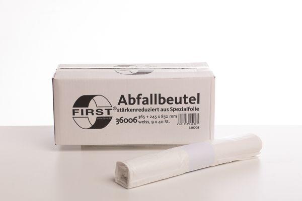 36512_Abfallsäcke LDPE weiß 60 Liter_9 Rollen x 40 Beutel VE
